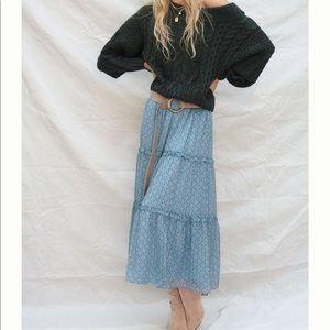 Anthropologie Regan Tiered Maxi Skirt Size M